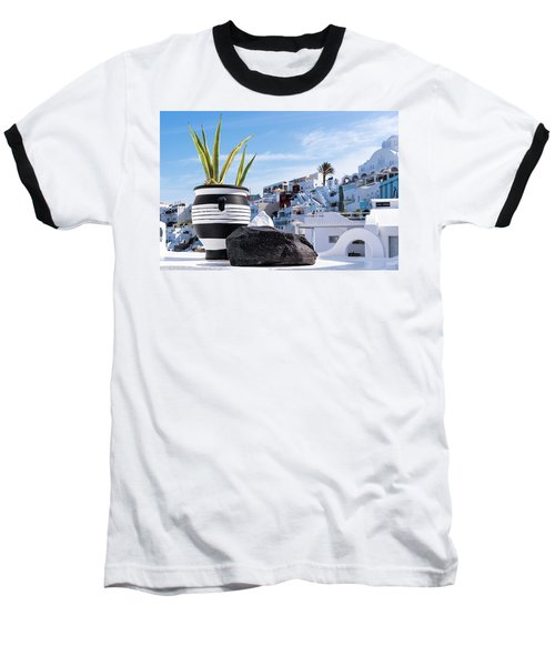 Santorini - Greece Baseball T-Shirt
