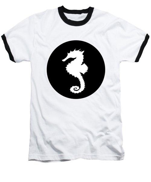 Seahorse Baseball T-Shirt by Mordax Furittus
