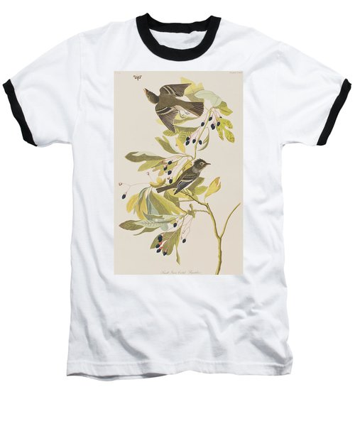 Small Green Crested Flycatcher Baseball T-Shirt