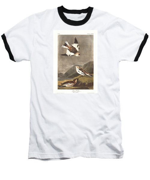 Snow Bunting Baseball T-Shirt