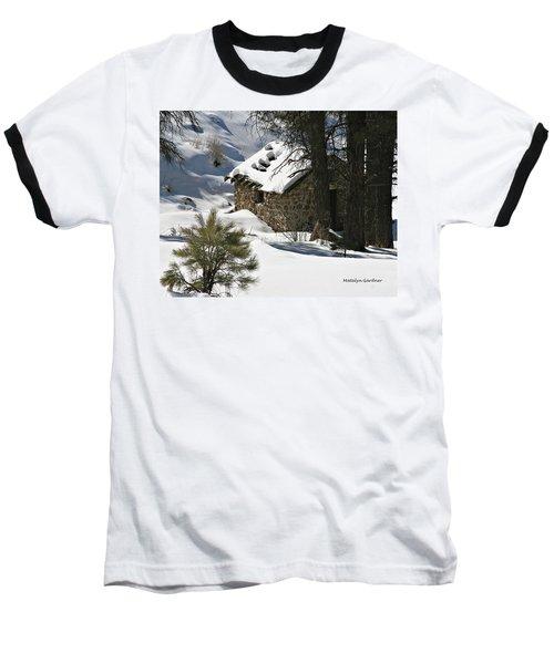 Snow Cabin Baseball T-Shirt