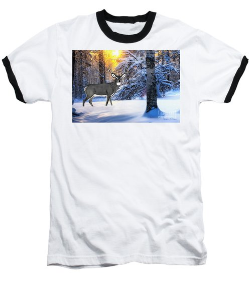 Snow Deer Baseball T-Shirt