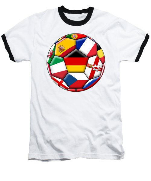 Soccer Ball With Flag Of German In The Center Baseball T-Shirt by Michal Boubin