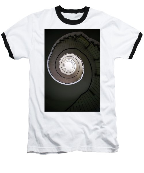 Baseball T-Shirt featuring the photograph Spiral Staircase In Brown Tones by Jaroslaw Blaminsky