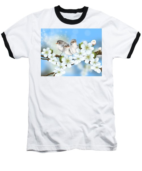 Baseball T-Shirt featuring the painting Spring Fever by Veronica Minozzi
