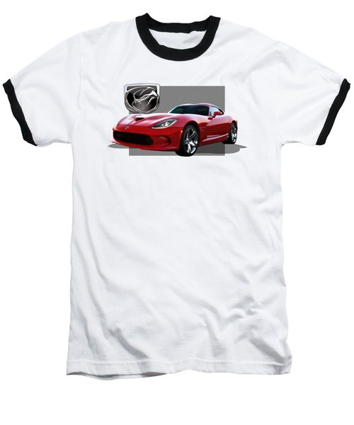 S R T  Viper With  3 D  Badge  Baseball T-Shirt