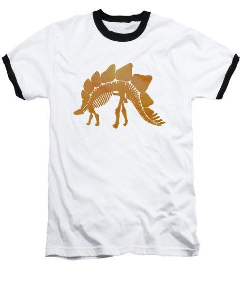 Stegosaurus Skeleton Baseball T-Shirt