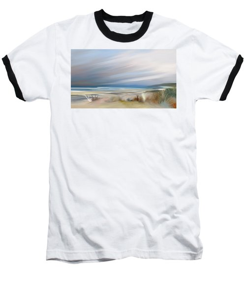 Storm Over Beach Baseball T-Shirt by Anthony Fishburne