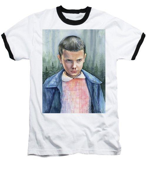 Stranger Things Eleven Portrait Baseball T-Shirt