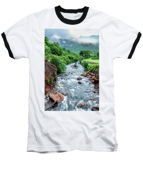 Baseball T-Shirt featuring the photograph Stream by Charuhas Images