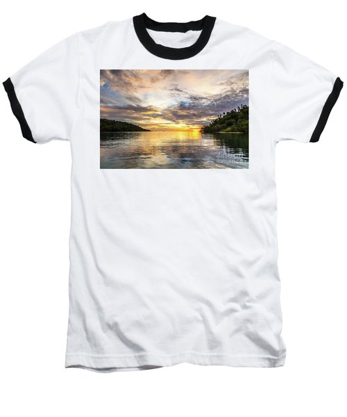 Stunning Sunset In The Togian Islands In Sulawesi Baseball T-Shirt