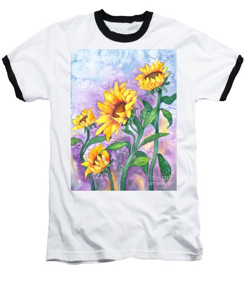 Sunny Sunflowers Baseball T-Shirt