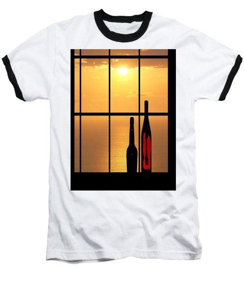 Sunset In Hawaii Baseball T-Shirt by Athala Carole Bruckner
