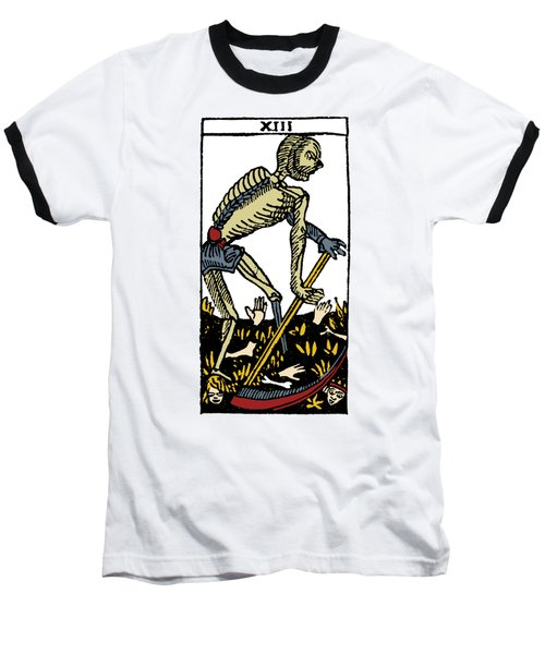 Tarot Card Death Baseball T-Shirt by Granger
