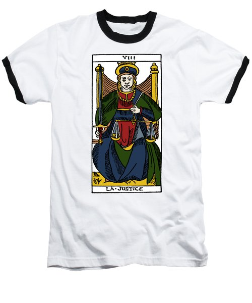Tarot Card Justice Baseball T-Shirt by Granger
