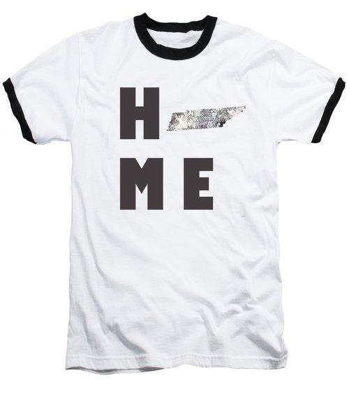 Baseball T-Shirt featuring the digital art Tennessee State Map by Marlene Watson