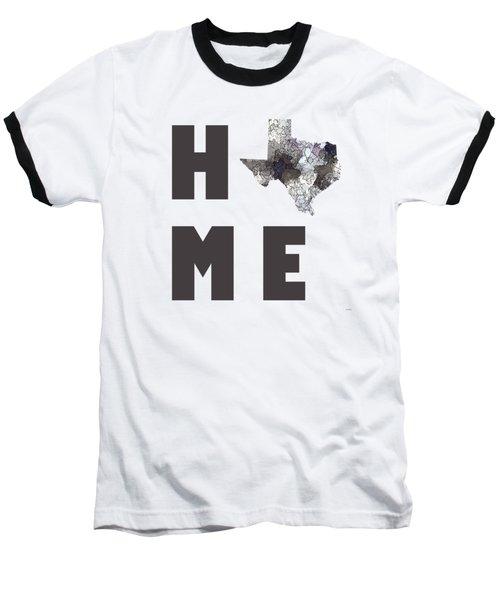 Baseball T-Shirt featuring the digital art Texas State Map by Marlene Watson