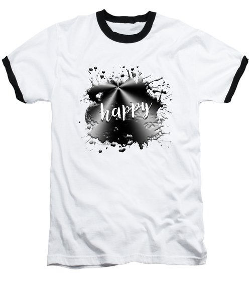 Text Art Happy Baseball T-Shirt