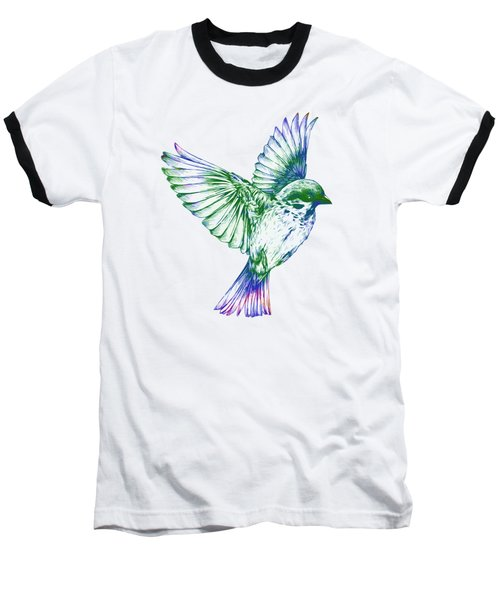 Textured Bird With Changeable Background Color Baseball T-Shirt