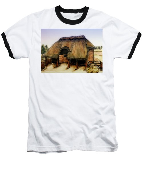 Thatched Barn Of Old Baseball T-Shirt by Shari Nees