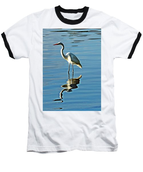 The Egret Baseball T-Shirt by Allen Beilschmidt