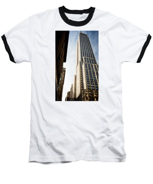 The Empire State Building Baseball T-Shirt by Sabine Edrissi