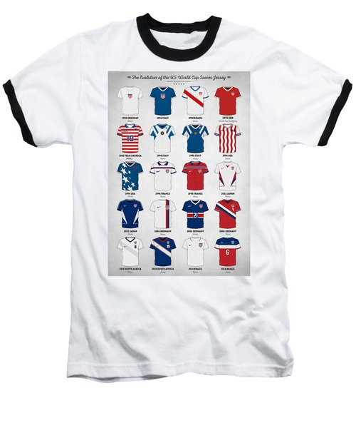 The Evolution Of The Us World Cup Soccer Jersey Baseball T-Shirt