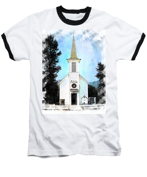 The Little White Church In Elbe Baseball T-Shirt by Joseph Hendrix