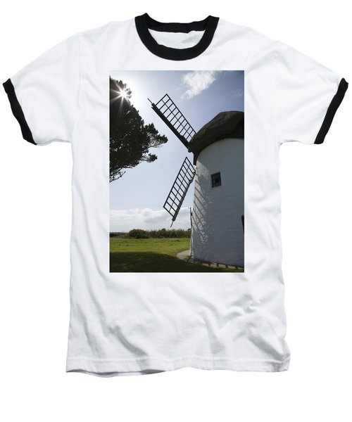Baseball T-Shirt featuring the photograph The Old Irish Windmill by Ian Middleton
