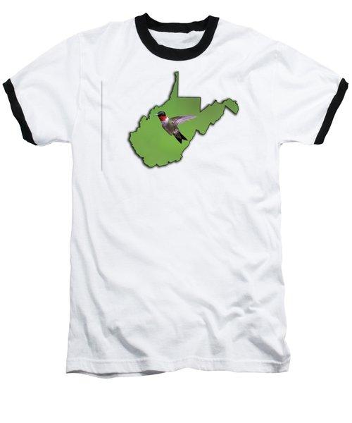 The Ruby-throated Hummingbird Baseball T-Shirt
