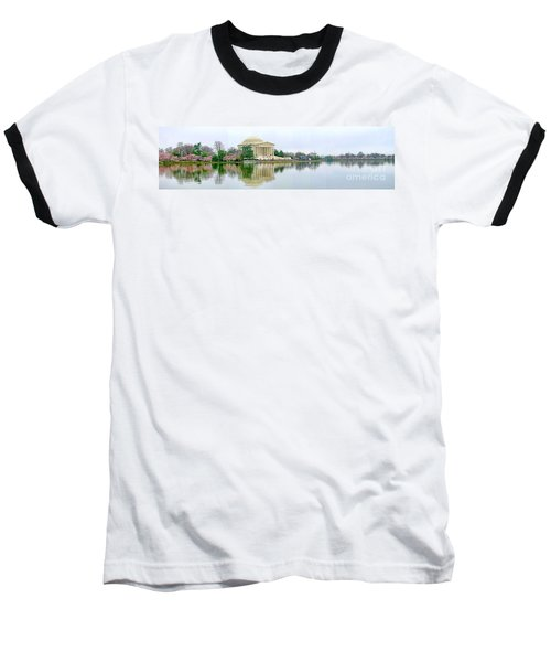Tidal Basin With Cherry Blossoms Baseball T-Shirt