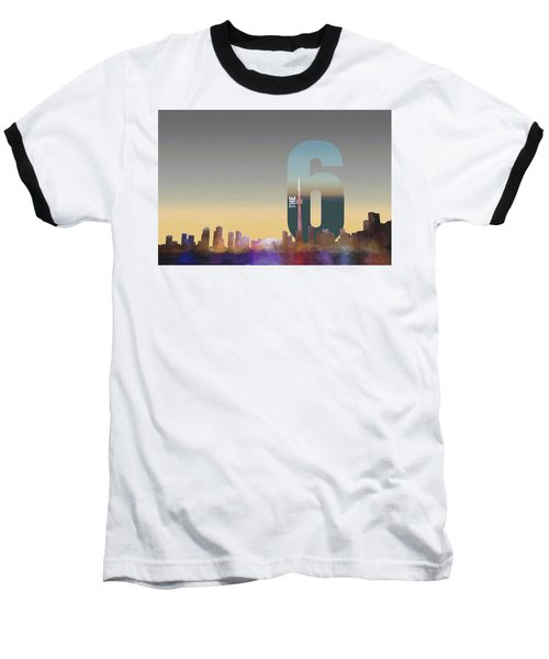 Toronto Skyline - The Six Baseball T-Shirt