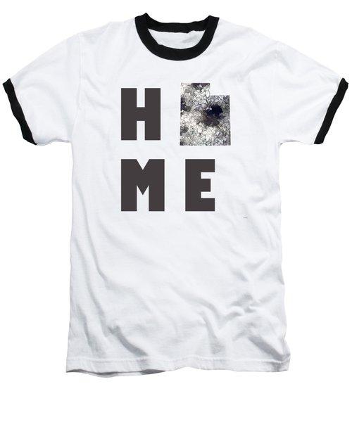 Baseball T-Shirt featuring the digital art Utah State Map by Marlene Watson