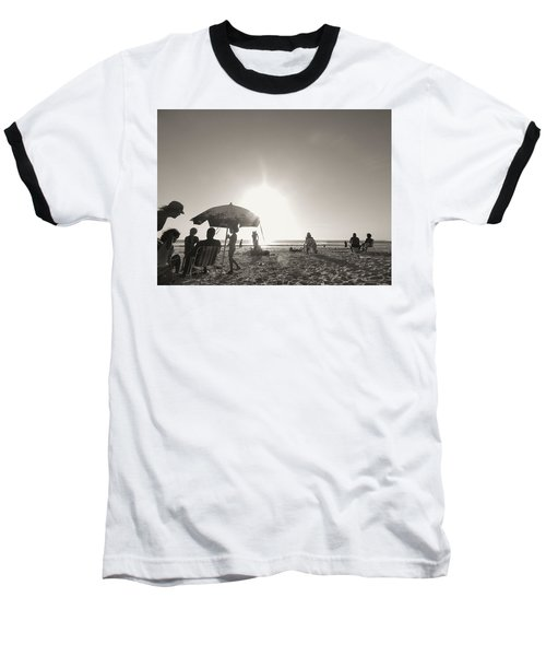 Baseball T-Shirt featuring the photograph Vamos A La Playa by Beto Machado