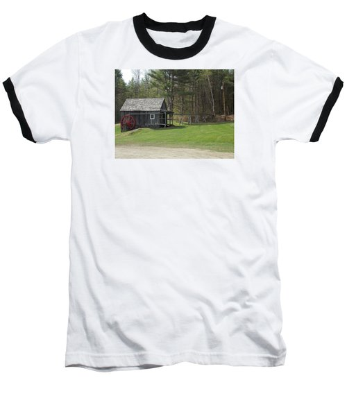 Vermont Grist Mill Baseball T-Shirt by Catherine Gagne