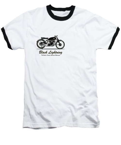 Vincent Black Lightning Baseball T-Shirt