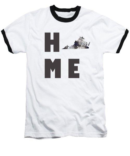 Baseball T-Shirt featuring the digital art Virginia State Map by Marlene Watson