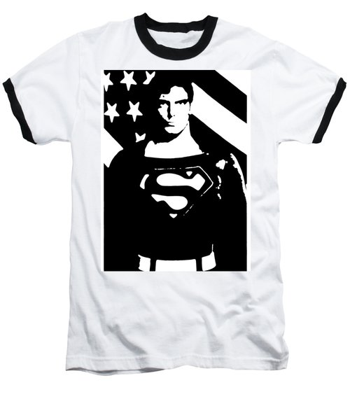 Baseball T-Shirt featuring the digital art Waiting For Superman by Saad Hasnain
