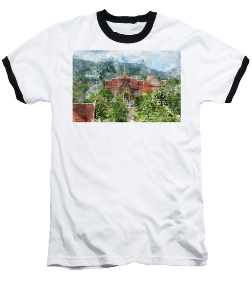 Wat Chalong In Phuket Thailand Baseball T-Shirt