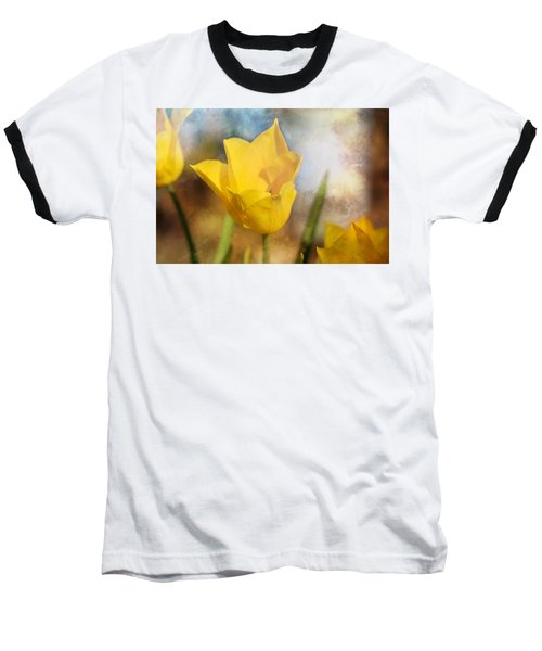 Water Lily Tulip Flower Baseball T-Shirt