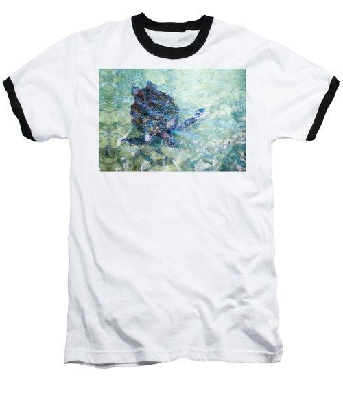 Watercolor Turtle Baseball T-Shirt