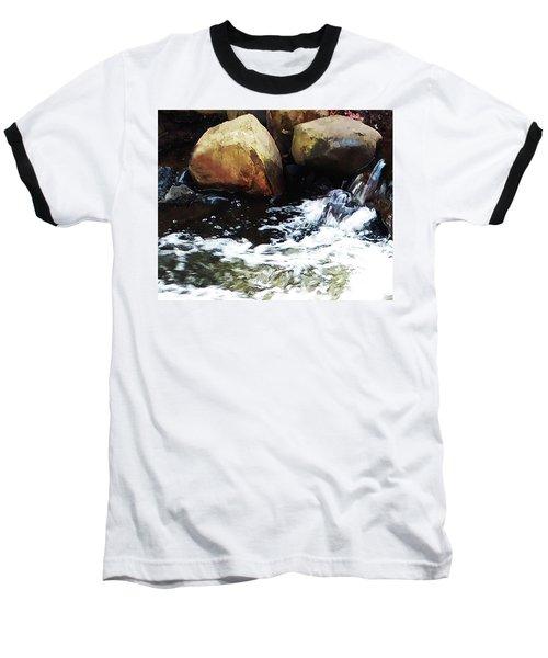 Waterfall Abstract Baseball T-Shirt