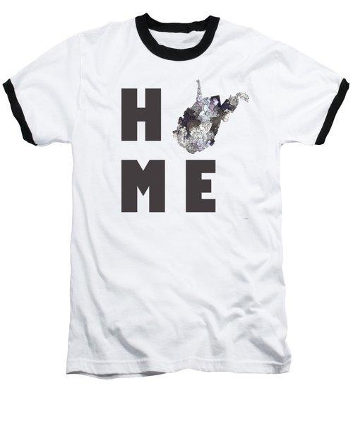 Baseball T-Shirt featuring the digital art West Virginia State Map by Marlene Watson