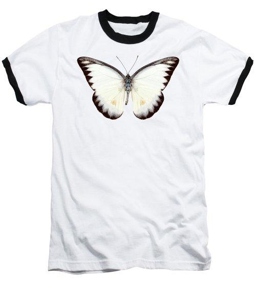 White Butterfly Species Appias Lyncida Baseball T-Shirt