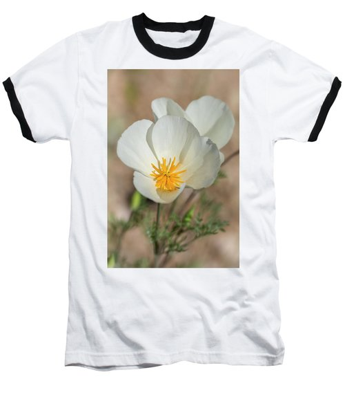 Baseball T-Shirt featuring the photograph White Poppies  by Saija Lehtonen