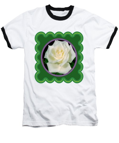 White Rose Flower Floral Posters Photography And Graphic Fusion Art Navinjoshi Fineartamerica Pixels Baseball T-Shirt by Navin Joshi