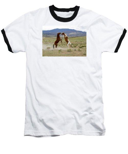 Wild Mustang Stallions Sparring Baseball T-Shirt