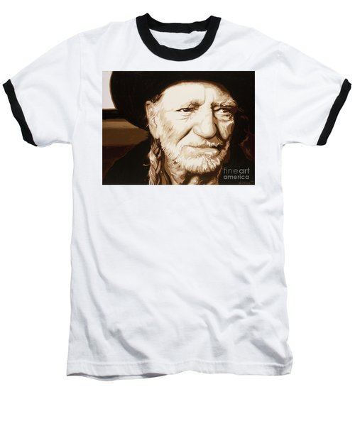 Willie Nelson Baseball T-Shirt by Ashley Price