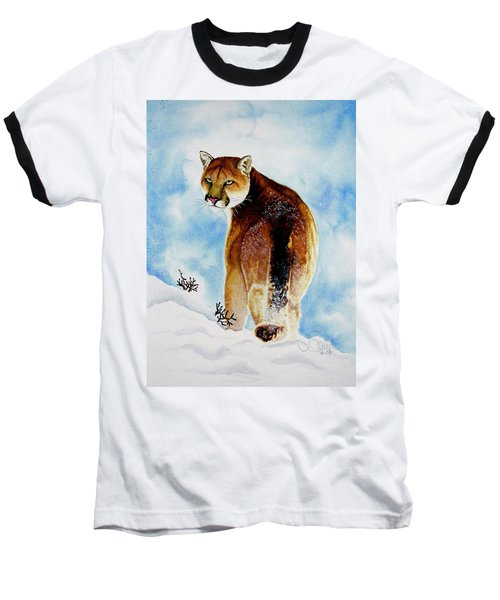 Winter Cougar Baseball T-Shirt