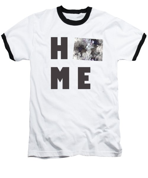 Baseball T-Shirt featuring the digital art Wisconsin State Map by Marlene Watson